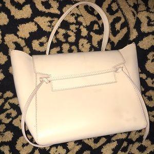 Light tan faux leather tote bag